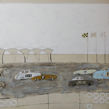 La_carrera de Malecón 140x140cm oil/canvas 2018