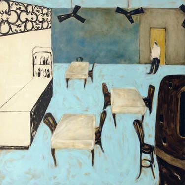 The Blue Bar 140x140cm oil/canvas 2017