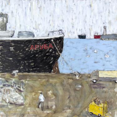 Aruba 90x90cm oil/canvas 2014