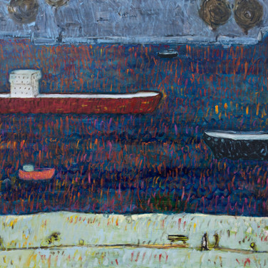 Hook van Holland 90x90cm oil/canvas 2014