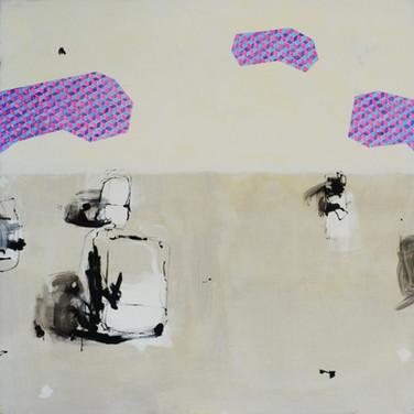 Seaside 140x140cm oil/canvas 2014