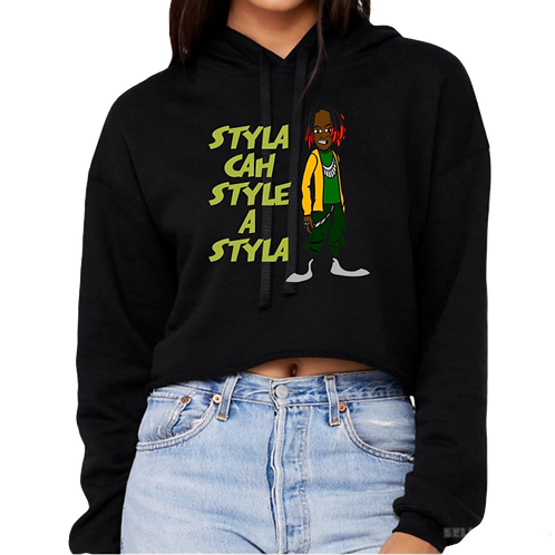 STYLA CROPPED HOODIE