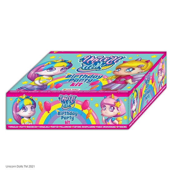 Kit Birthday Party Unicorn Dolls - Da 6 a 8 persone
