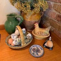 A tisket, a tasket, an egg-filled Quimper basket