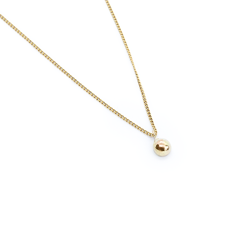 Molten Rounded 9ct Yellow Gold Pendant & Chain Necklace