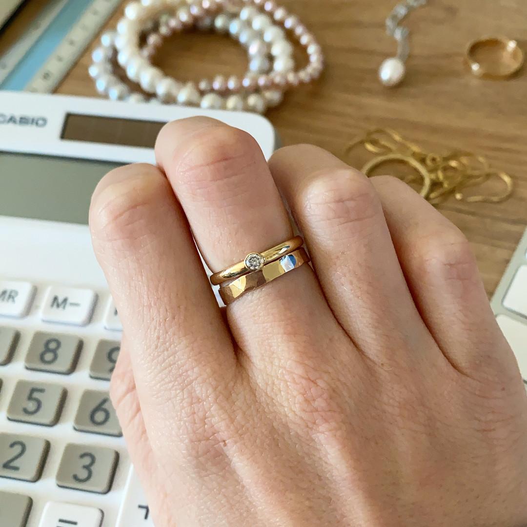 9ct Yellow Gold Stacking Rings