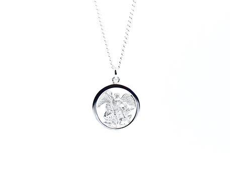 Silver Saint Michael Necklace
