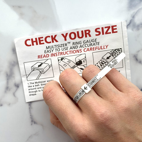 Reusable Adjustable Ring Sizer & HOW-TO guide
