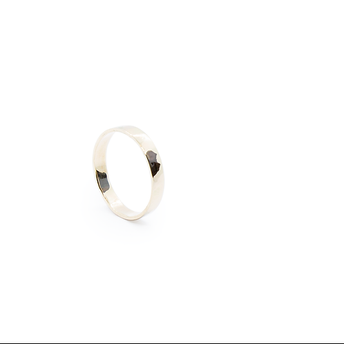 9ct Yellow Gold Hammered Band Ring