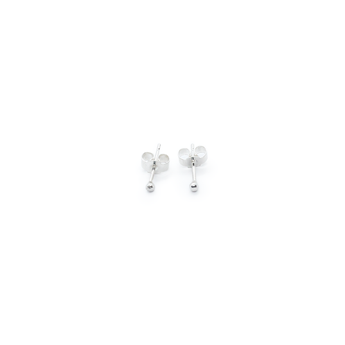 Tiny Rounded Silver Molten Stud Earrings