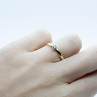 9ct Gold Diamond Rubover Stacking Ring