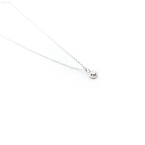Molten Silver Bead Pendant & Chain Necklace