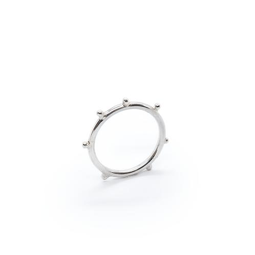 Silver Molten Granulation Stacking Ring
