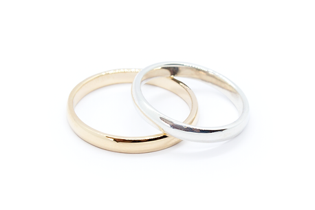 9ct Yellow Gold & Silver Bands