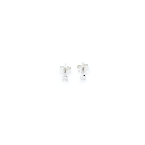 Small Crushed Silver Molten Stud Earrings