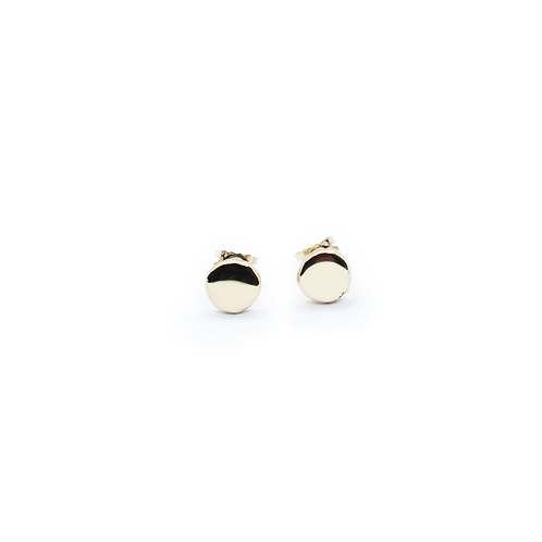 Extra Large Crushed 9ct Yellow Gold Molten Stud Earrings