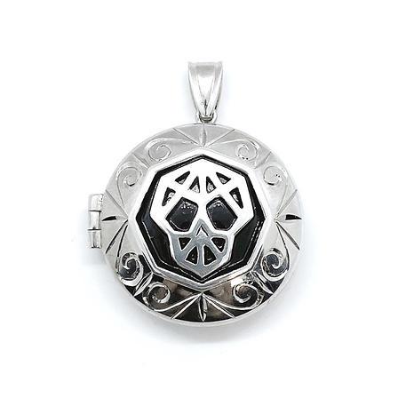 Silver Skull Locket