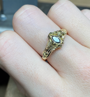 9ct Gold 0.25ct Marquise Salt & Pepper Diamond Vine Ring