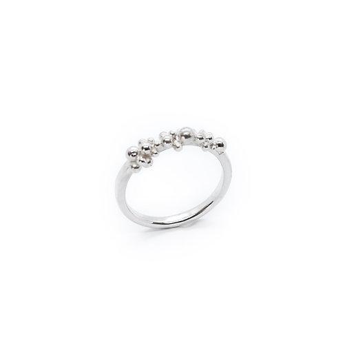 Silver Molten Granulation Ring