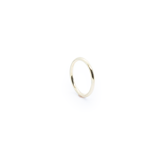 9ct Yellow Gold Halo Wedding Band/Stacking Ring