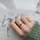 Thumbnail: Silver Molten Bead Ring