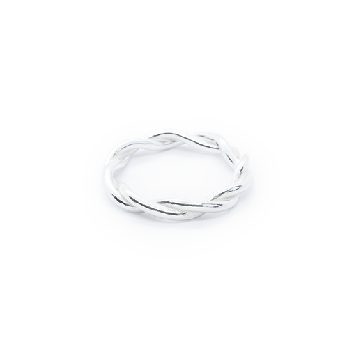 Chunky Silver Twisted Thumb Ring