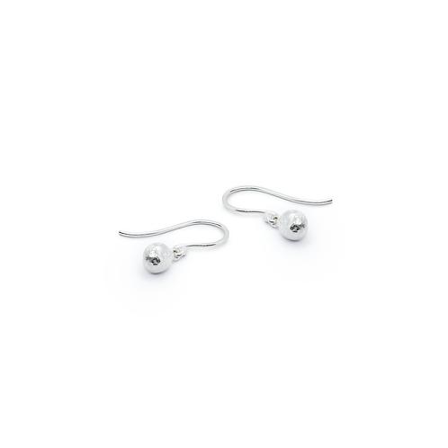 Molten Silver Hook Drop Earrings