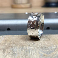 Silver Sunflower Anxiety Spinner Ring