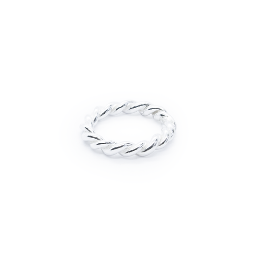Tight Twist Silver Ring