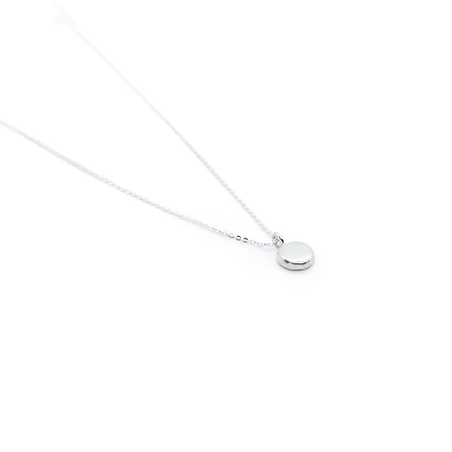 Crushed Silver Molten Pendant & Chain Necklace
