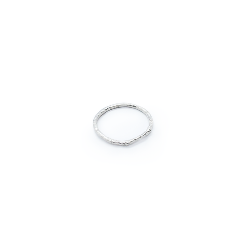 Molten Silver Band/Stacking Ring