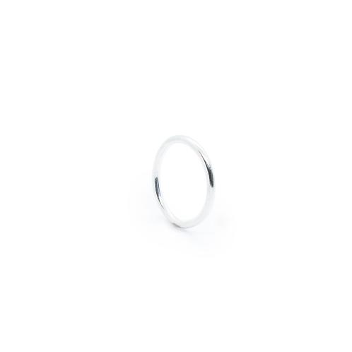 Silver Halo Wedding Band/Stacking Ring