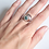 Thumbnail: Sterling Silver Moss Agate Rubover Ring