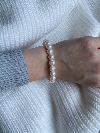 White Freshwater Pearl Bracelet.jpeg