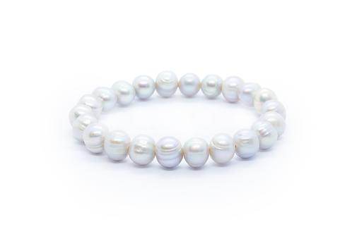 Silver Grey Baroque Freshwater Pearl Bracelet
