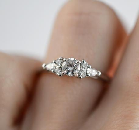Platinum 0.50ct Diamond Cluster Engagement Ring