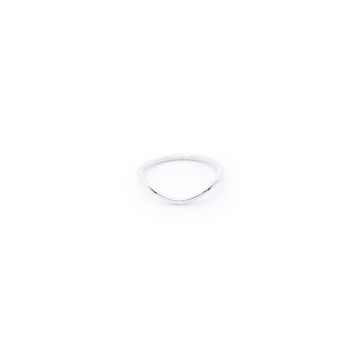 Silver Slimline Wave Stacking Ring