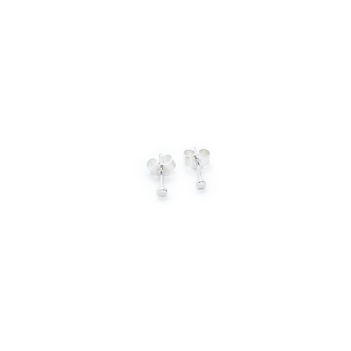 Tiny Crushed Silver Molten Stud Earrings
