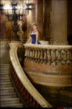 Mature Elite Tampa Travel Companion Sarah Landon at the opera house in Paris