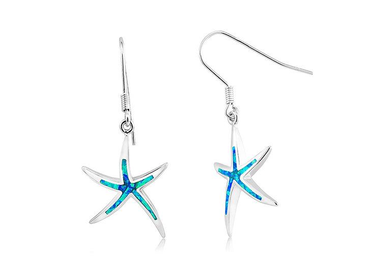 Opal Starfish Earrings