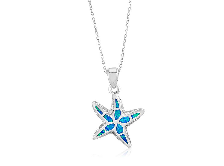 Opal Starfish Pendant Necklace (small)