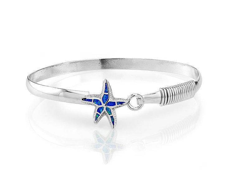 Opal Starfish Sterling Silver Bracelet