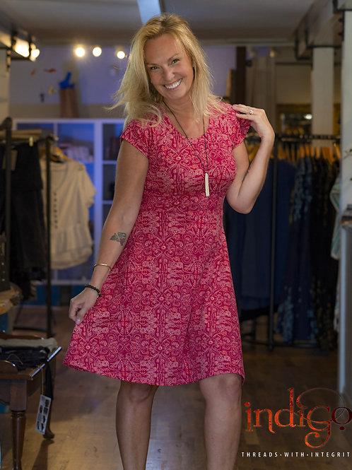 Mata Traders Farmers Market Dress, Ruby Pink