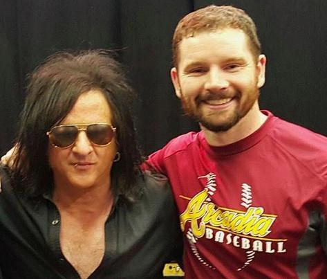 Derek with Steve Stevens (Billy Idol / Michael Jackson)