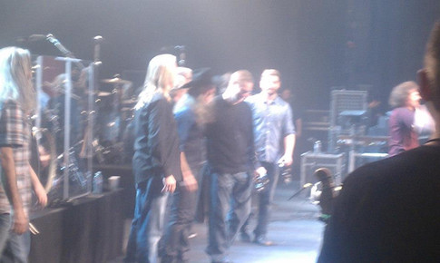 Derek taking a bow with The Doobie Brothers