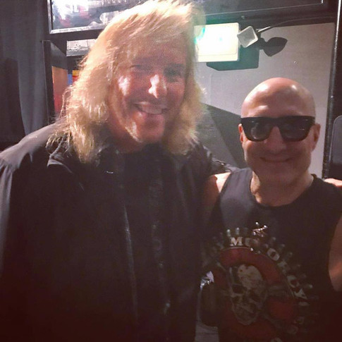 Jim with drumming legend, Kenny Aronoff