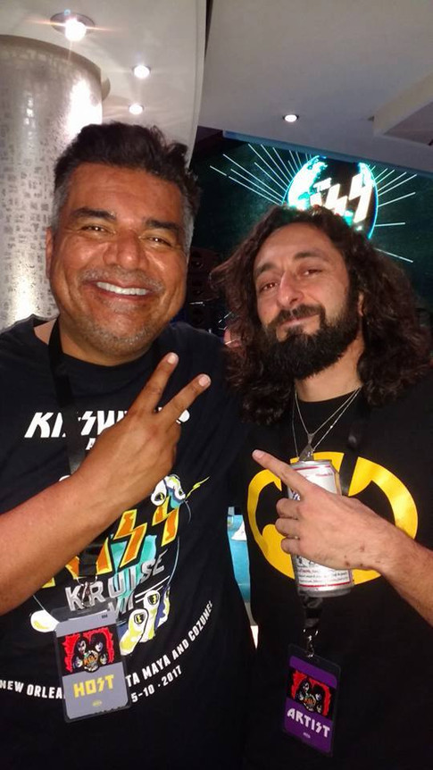 Anthony with George Lopez