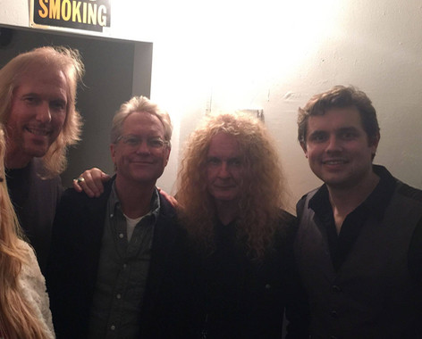 Gerry Beckley and Bill Worrell of America with Swan and Jim