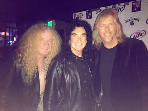 Swan and Jim with Robin McAuley (Michael Shenker Group, Survivor)