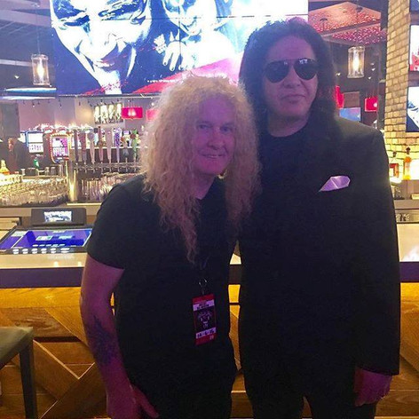 Swan with Gene Simmons of Kiss